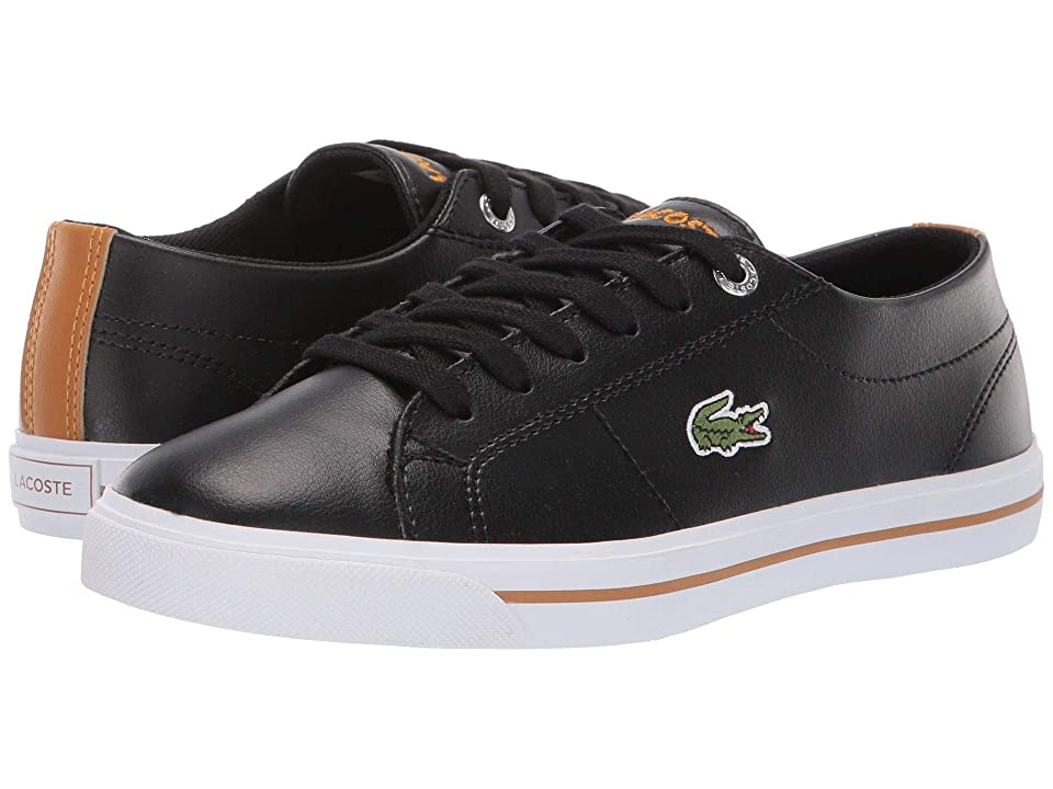Lacoste Kids Riberac (Little Kid/Big Kid) (Black/Dark Tan) Kid
