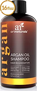 ArtNaturals Argan Hair Growth Shampoo - (16 Fl Oz / 473ml) - Sulfate Free - Treatment for Hair Loss, Thinning & Regrowth - Men & Women - Infused with Biotin, Argan Oil, Keratin, Caffeine
