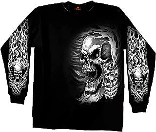 Hot Leathers Assassin Double Sided Long Sleeve Biker T-Shirt (Black, XX-Large)