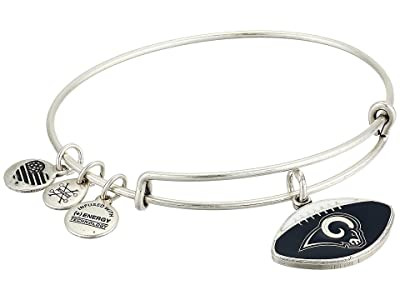 Alex and Ani Color Infusion Los Angeles Rams Football Bangle (Rafaelian Silver) Bracelet