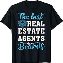 Funny Real Estate Agent Beard Realtor Men T-shirt Husband