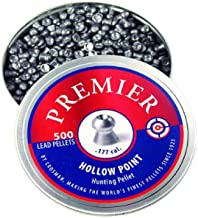 Crosman LHP77 .177-Caliber Premier Hollow Point Pellets (500-Count), Metallic, 0.177-Calibre