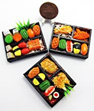 ThaiHonest 3 Mix Dollhouse miniature Sushi Bento ,Tiny Food,Dollhouse Food