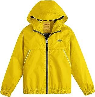 Wantdo Boy's Lightweight Rain Jacket Windproof Outerwear Hooded Windbreaker