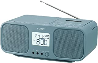 ソニー SONY CDラジオカセットレコーダー CFD-S401 : FM/AM/ワイドFM対応 大型液晶/カラオケ機能搭載 電池駆動可能 ブルーグレー CFD-S401 LI