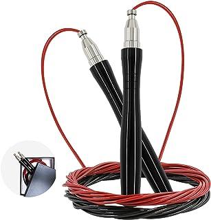 comprar comparacion AGAKY Cuerda de Saltar Profesional, Combas de Fitness de Acero para Adultos con Asas Ergonómicas de Metal, Alta Velocidad ...