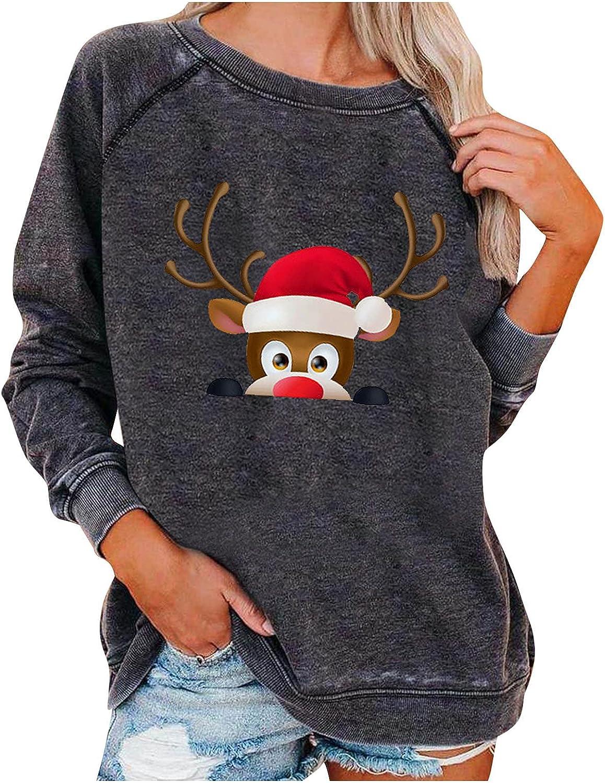 Kanzd Christmas Sweatshirts for Women Austin Mall Ranking TOP20 Fashion Sleeve Retro Long