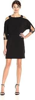 Sandra Darren Women's 1 Pc Cold Shoulder Ity Blousant Dress