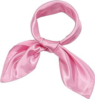 Chiffon Scarf Square Handkerchief Satin Ribbon Scarf for...