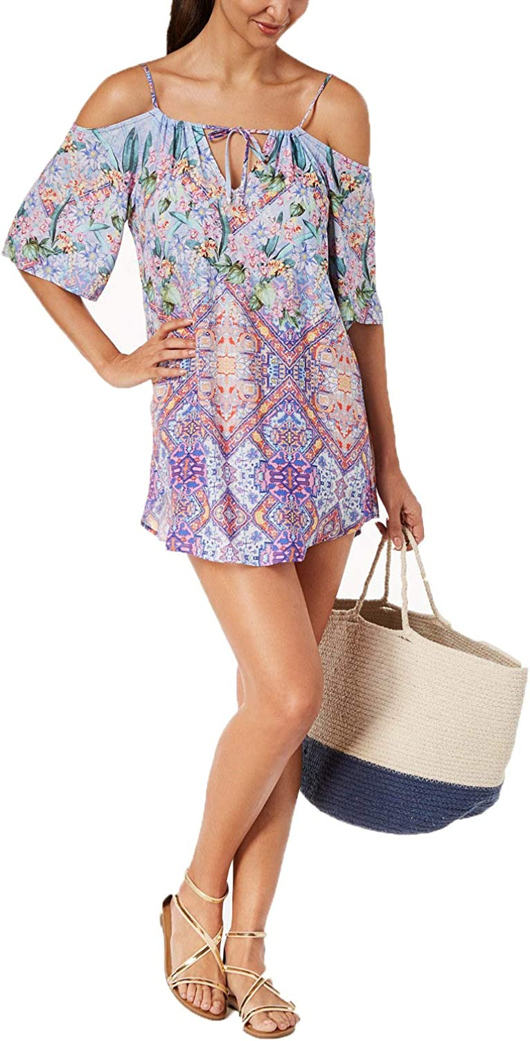 Nanette Lepore Womens Festival a Cannes Cold Shoulder Tunic CoverUp