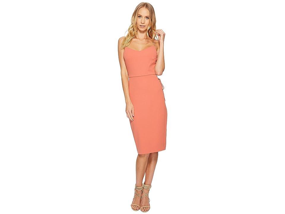 1.STATE Spaghetti Strap Slip Dress w/ Lace-Up (Cedar Rose) Women