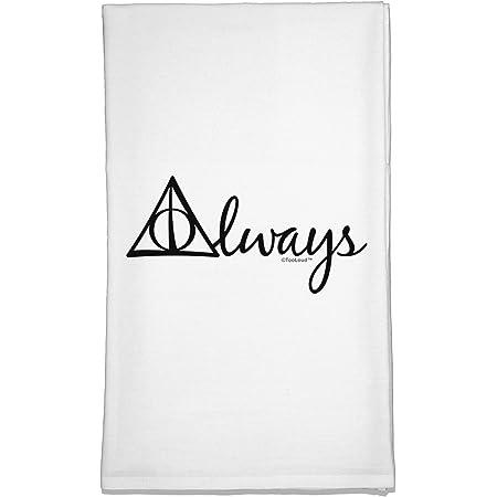 TOOLOUD Always Magic Symbol Cursive Flour Sack Dish Towel