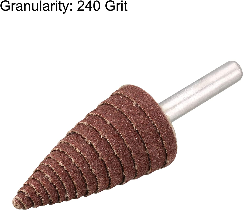 uxcell 16mm Cone Shape Abrasive Flap Wheel 1//8-Inch Shank for Deburring Sanding Polishing 240 Grit 10 Pcs