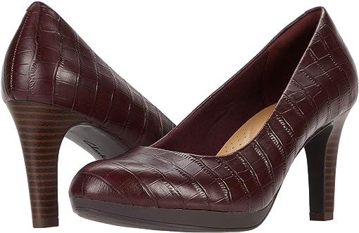 Burgundy Croc Leather