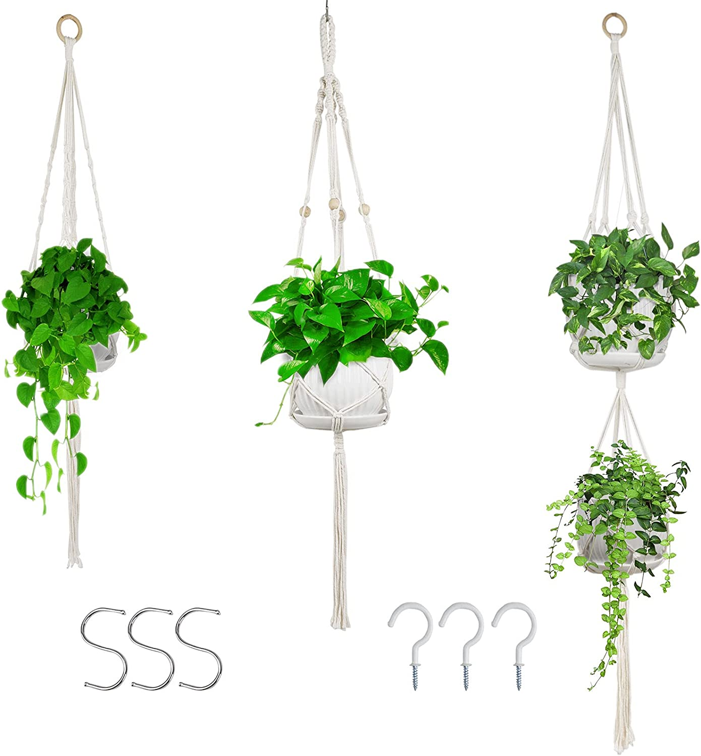 Macrame Plant Hanger Hangers Safety and trust Planters Indoor 5 ☆ very popular Hanging Ind