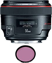 Canon EF 50mm f/1.2L USM Lens with Pro Filter (Renewed)