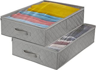 Sorbus Storage Bags Closet & Underbed Organizer Set, Clear Cover, Foldable with Carry Handles, Great for, Clothes, Linens,...