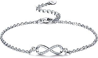 F.ZENI Women Bracelet 925 Sterling Silver Infinity Bracelet for Women with Jewellery Gifts Box