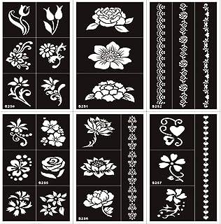 10 hojas Pegatina de tatuaje de diseño de flor de maíz AU henné tatuaje AU henné