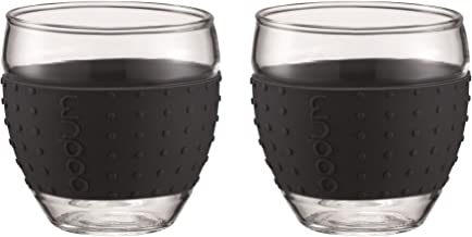 Bodum 11185-01 Pavina Glass, 0.35L, Black (Pack of 2)