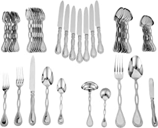 Ricci Regale Satin 45-Piece Stainless-Steel Flatware Set, Service for 8