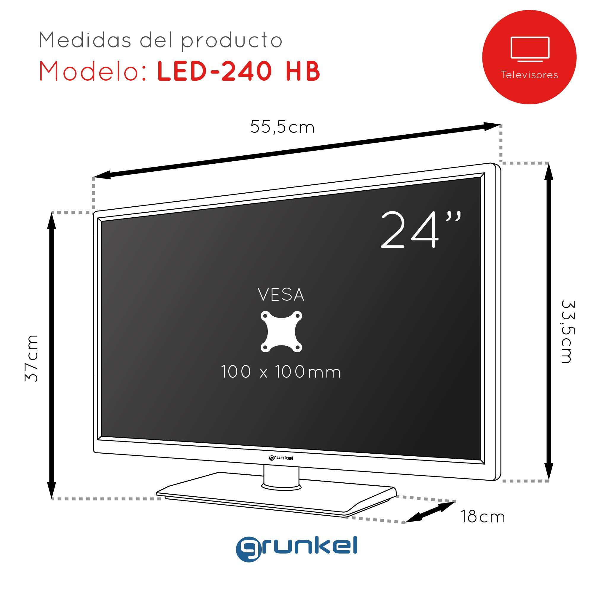 Grunkel - LED-240 HB - Televisor LED Full HD Alta definición - 24 ...