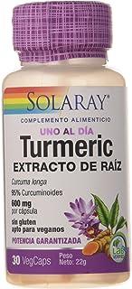 Solaray Turmeric 600mg   Cúrcuma   30 VegCaps