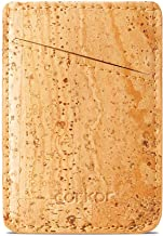 Corkor Vegan Front Pocket Wallet Men Minimalist Slim Cards Eco Durable Light Brown Cork