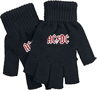 ACDC Classic Red Band Logo Highway To Hell Black Fingerless