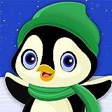 ペンギン冬の楽しみ:スノーボードスポーツクレイジーコールド・レース - ゴールド