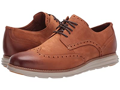 Cole Haan Original Grand Wingtip Oxford (CH British Tan Nubuck/Hawthorn) Men