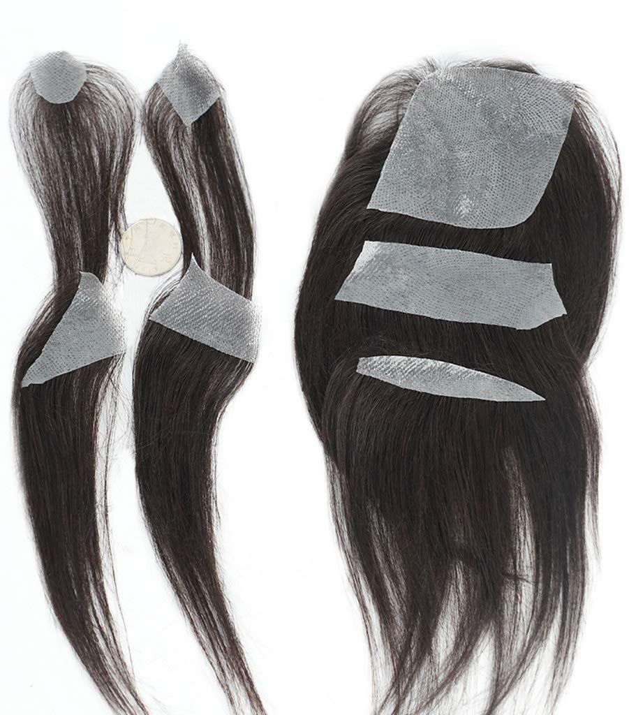 Straight Black Human Hair Super Thin Skin Popular brand in the world Max 48% OFF Patch Invisible T