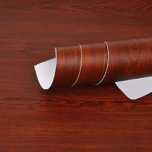 Elton Light Oak Wood Self Adhesive Furniture Interior Vinyl Film Wall Paper (2 x 6 feet)
