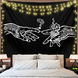 Psychedelic Tattoo Tapestry Trippy Tapestry Psychedelic Wall Art Bohemian Tapestries Photography Background for Bedroom Living Room Dorm Party Decor(51 x 59)