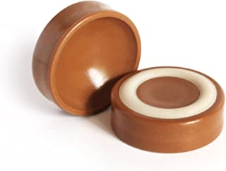 Slipstick CB600 Furniture Wheel Caster Cups / Floor Protectors with Non Skid Rubber Grip (Set of 4 Grippers) 1-3/4 Inch - Caramel
