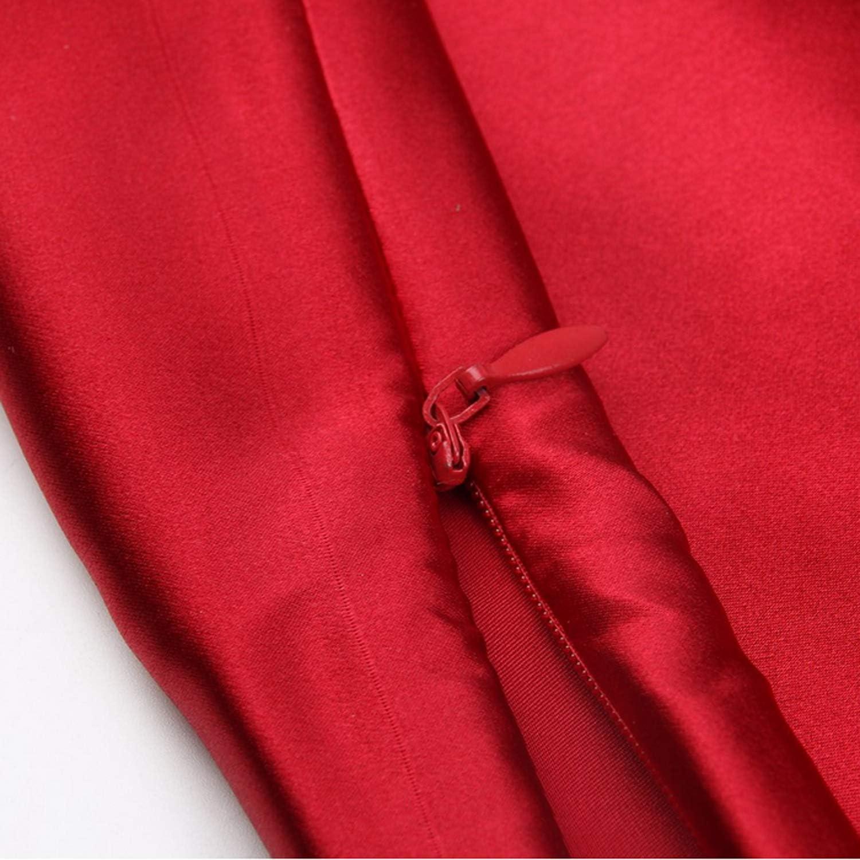 Red Funda de almohada de seda de morera 100/% natural: suave y transpirable con 21 Momme 600TC Hipoalerg/énico Suave y transpirable con Funda de almohada de seda revestimientos de cama(76X51cm