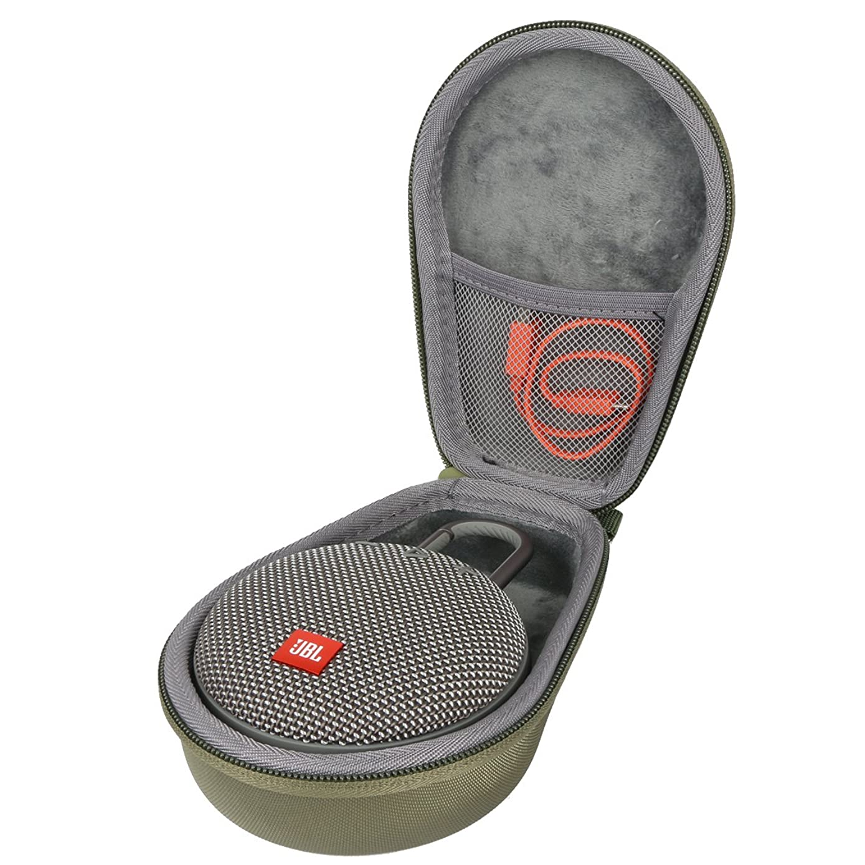 Co2Crea Hard Travel Case for JBL Clip 2/3 Waterproof Portable Wireless Bluetooth Speaker (Green)
