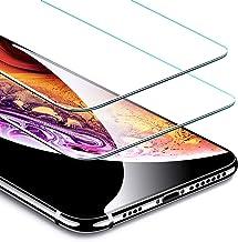 ESR Protector Pantalla para iPhone XS MAX [2 Piezas][Garantía de por Vida], Cristal Templado 9H Dureza [3D Touch Compatible], Anti-Huella Compatible para Apple iPhone XS MAX