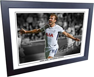 Kitbags & Lockers 7x5 Signed Harry Kane Tottenham Hotspur Spurs Autographed Photo Photograph Picture Frame Gift