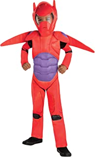 Big Hero 6 Red Baymax Costume for Toddler Boys, Size 3T to 4T, Includes a Jumpsuit, Mask, Wings, and More