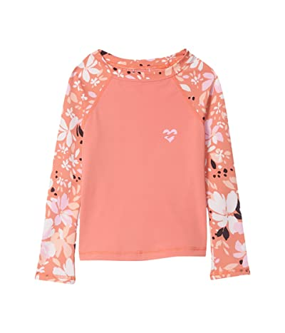 Billabong Kids Petal Party Long Sleeve Rashguard (Little Kids/Big Kids) (Coral Reef) Girl