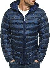 3XL Winter Men Down Jackets Zipper 2019 Hoodies Fashion Warm Tops Big and Tall Comfor Casual Long Sleeve Coat Outwear