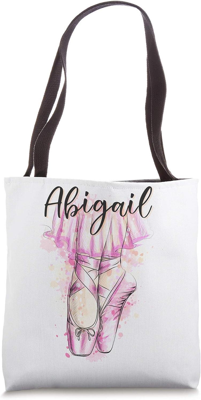 Custom Ballerina Ballet Dancer gift with the name Abigail Tote Bag