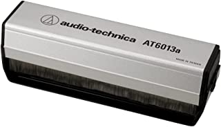 Audio Technica AT6013A Carbon Fiber Dual Action Anti-Static Record Cleaner Brush (Silver/Black)