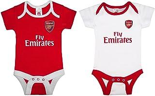 1ce9277bf9b83 Arsenal FC officiel - Lot de 2 bodies pour bébé - thème football - couleurs  domicile