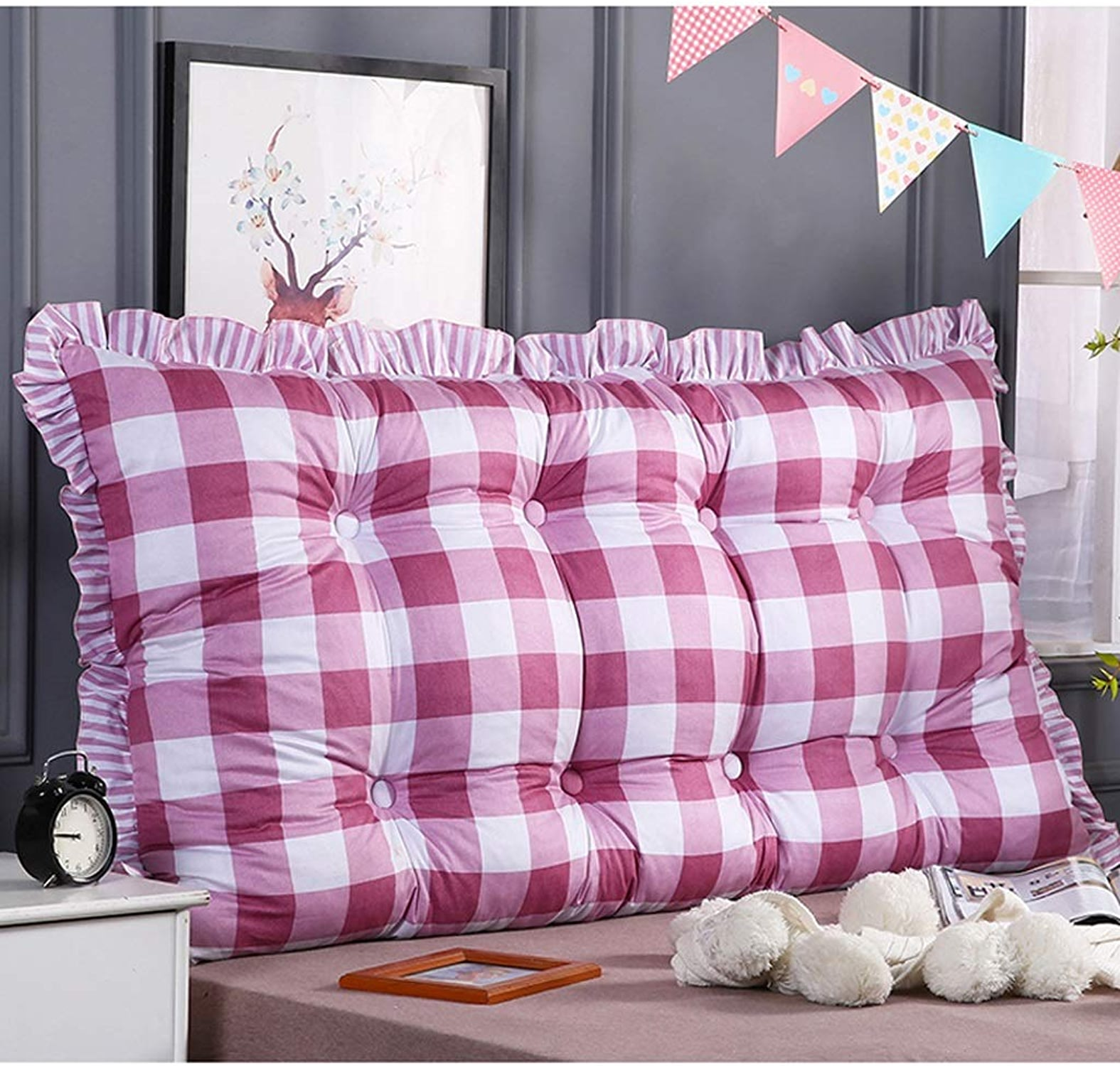 LSXLSD Tête de lit Double avec Coussins Longs en Tatami, Dossier de Lecture du canapé, Grand canapé Coussin Lombaire Amovible et Lavable, Grand Coussin - 100cm   120cm   150cm. (Taille   150cm)