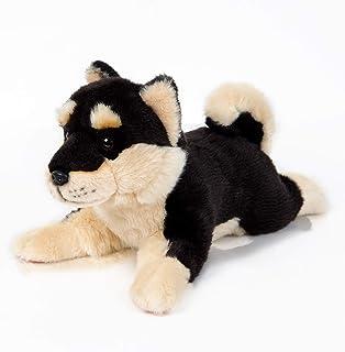 "12"" Black Shiba Inu Plush Lying Down Dog Plush Corgi Pillow Cute Dog Doll Stuffed Animal Kawaii Plushies Shiba Inu for Dec..."