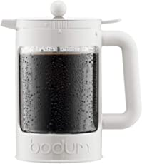 Bodum Bean Cold Brew Coffee Maker Set, 1.5 L/51 oz, White