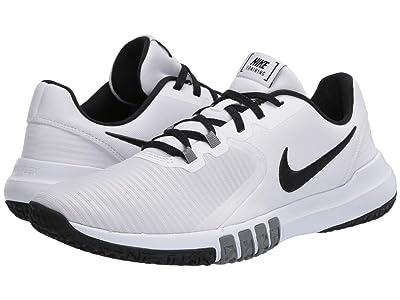 Nike Flex Control 4 (White/Black/Smoke Grey) Men