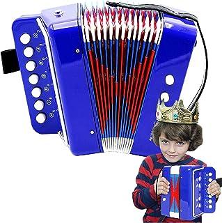 Mini Accordion Kids Children Student Music Instrument Toy Gift 7 Keys 2 Bass